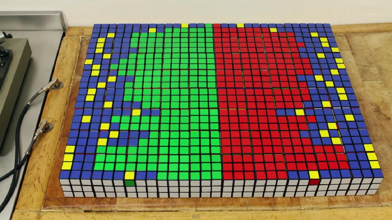 Equalizador de cubo mágico