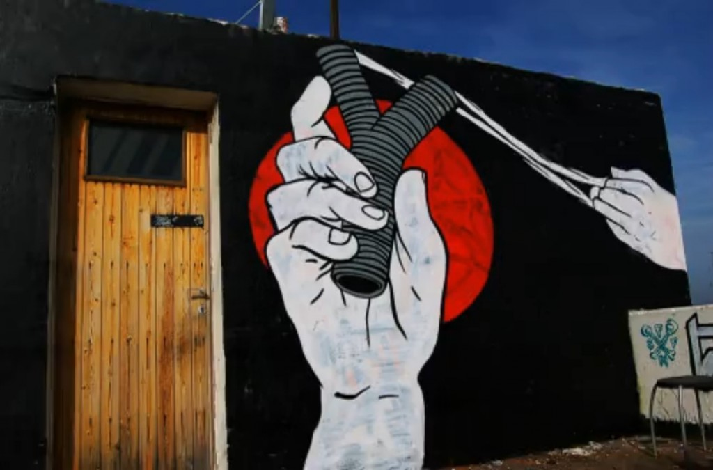 Cena de Graffiti Stop Motion