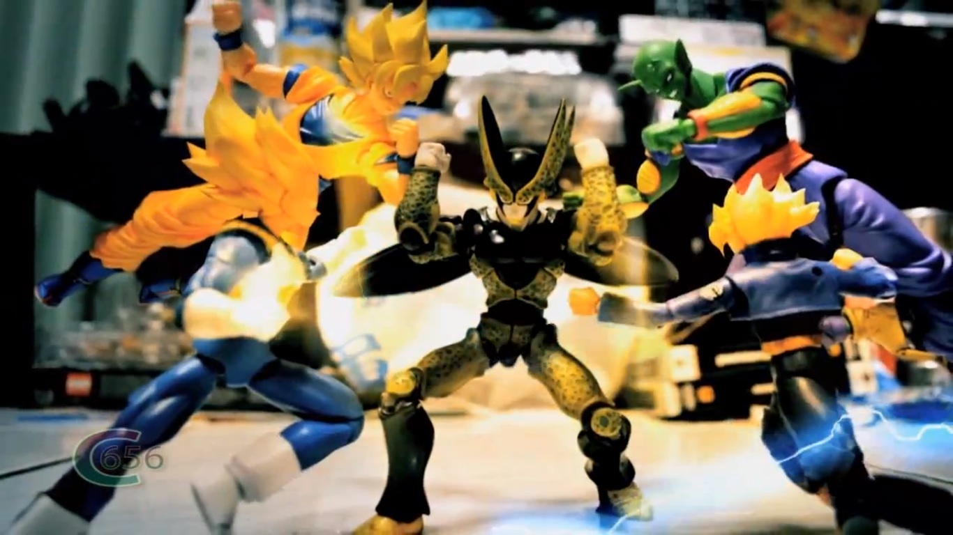 Cena de Dragon Ball Z Stop Motion - Cell's return