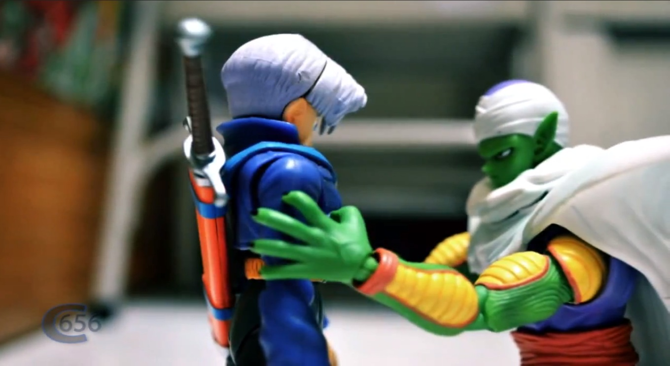 Cena de Dragon ball Z Stop Motion - Piccolo VS Trunks
