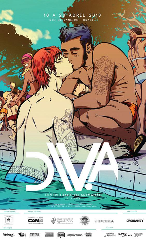 Poster Festival Diversidade em Animação (DIV.A)