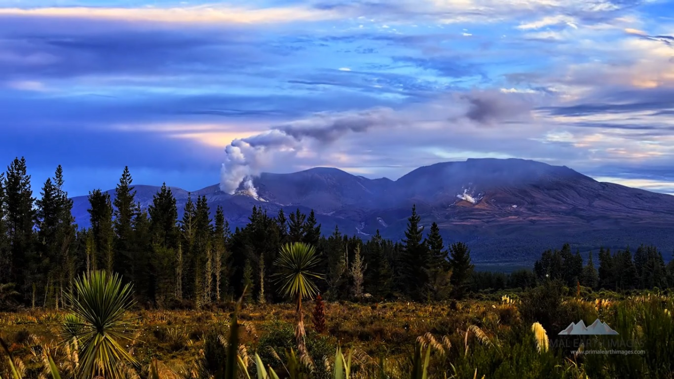 Cena de New Zealand Landscape Timelapse